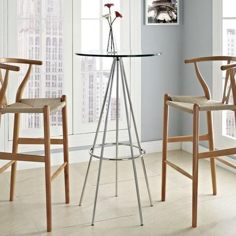 modway sync bar table in clear