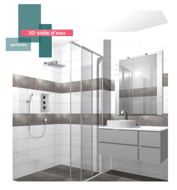 salle d'eau | B_indoor | www.b-indoor.com/ #decoration #design #agencement #contemporain #art #mobilierdesign #amenagement #plans #douche #bathroom #salledebains #meublevasque #faience #grescerame #carrelage