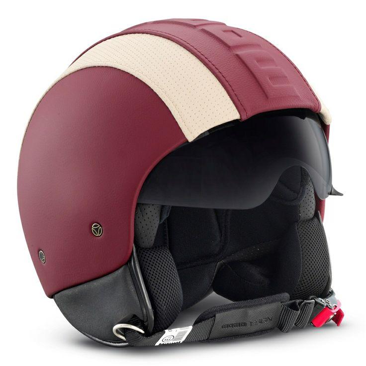 Momo Hero Helmet - Red/White | Open Face Helmets | FREE UK delivery - The Cafe Racer