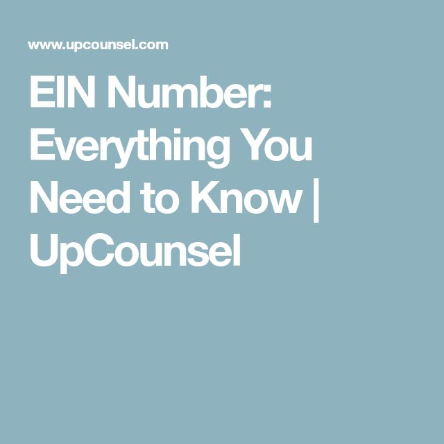 EIN Number: Everything You Need to Know | UpCounsel