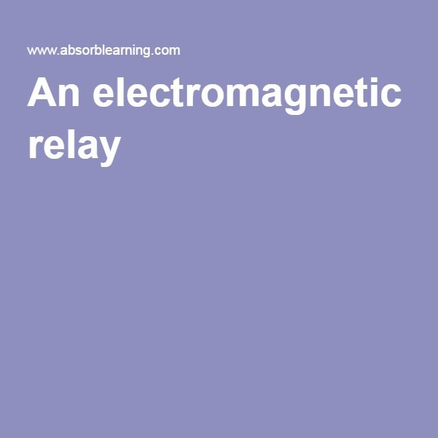 An electromagnetic relay