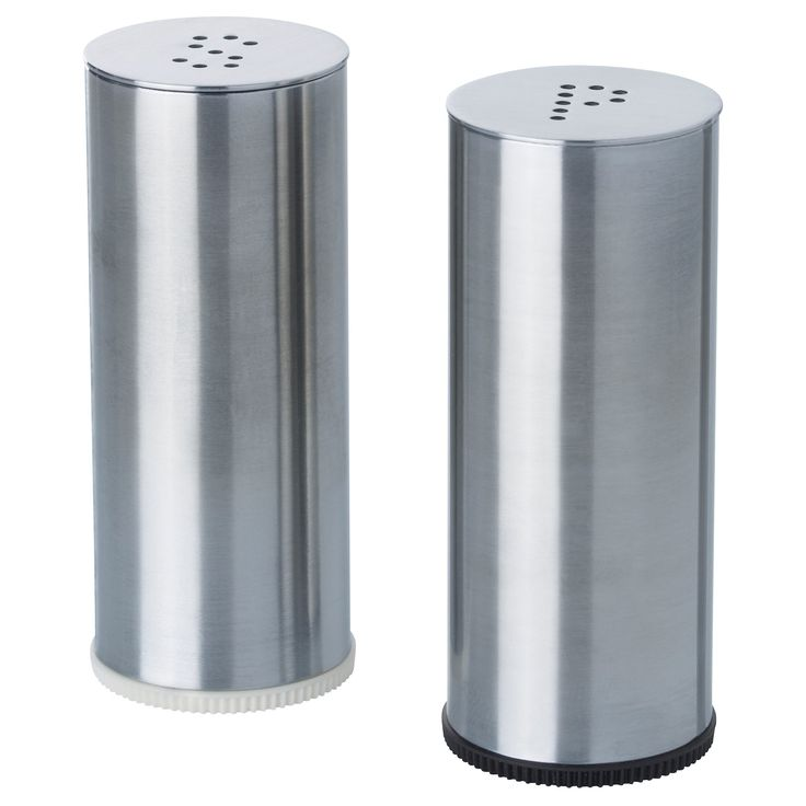 Wonderful Ikea Plats Salt And Pepper Shaker, Stainless Steel, Set Of 2