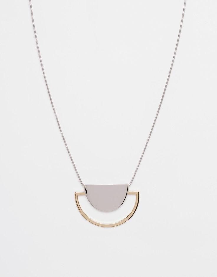 ASOS Sleek Semi-Circle Necklace