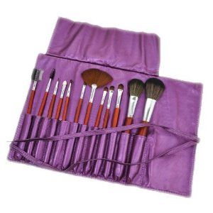 12pcs Makeup Brush + Pearl Violet Holder CODE: #306V by Beauties Factory. $20.49. 12pcs Makeup Brushes Set Include: -Large Powder brush -Medium Powder brush -Round Shadow Brush #1 -Round Shadow Brush #2 -Round Shadow Brush #3 -Angle Shadow Brush -Fan Brush -Concealer Brush -Lipstick Brush -Eye Applicator Brush -Mascara brush -Lash comb & brow comb Brushes varies from 18cm to 21cm in length Protective portable *Roll-up* holder bag, easy to carry! Color : Pearl Vi...
