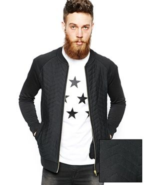 ASOS Bomber With Zig Zag Quilted Body
