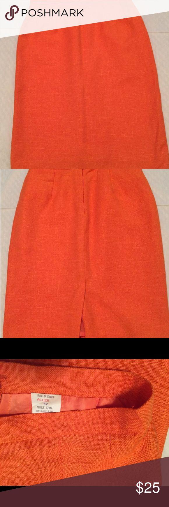 ALCEE Pumpkin Pencil Skirt, Euro Sz 42, US Sz 12