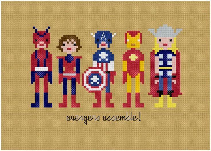 Avengers Cross-stitch.
