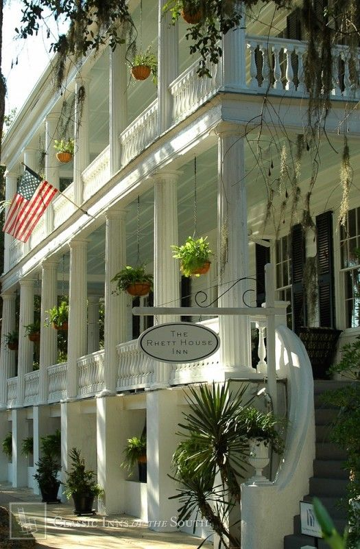 """Thomas Rhett house (now the Rhett House Inn) in Beaufort, SC was built ca. 1820.  Margaret Mitchell visited this area while writing """"Gone with the Wind"""" and named her main character after the Rhett family of Beaufort and Charleston and the Butler family of Atlanta."""