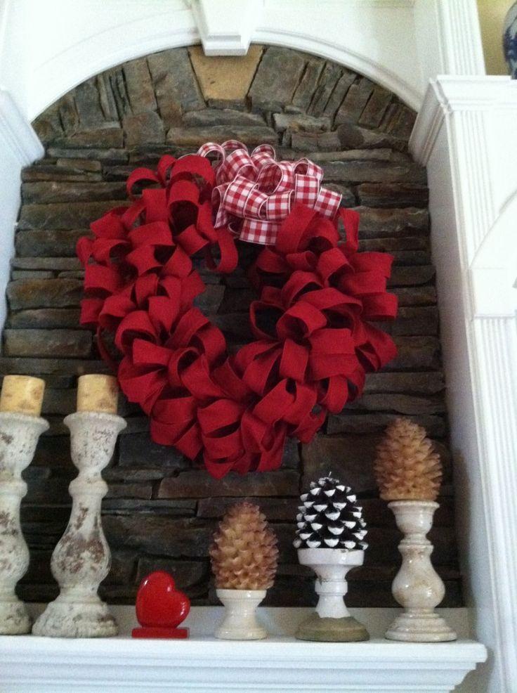Burlap Valentine 39 S Day Wreath Diy Spring Pinterest