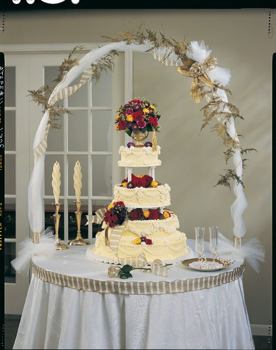 Perfect wedding cake table decoration ideas ashley and for Wedding cake table decorations