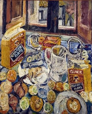 John Bratby   Anticoli Still Life Oil On Canvas Laid On Board X Inches  1954. Find This Pin And More On Kitchen Sink Realism ...