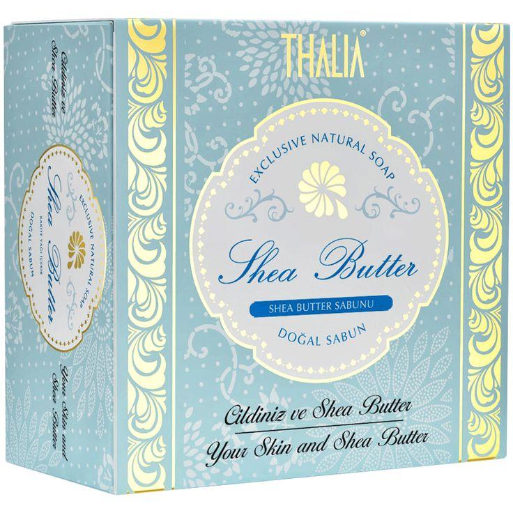 Yüksek oranda shea yağı ile zenginleştirilen THALIA Shea Butter sabunumuz nemlendirici etkinin yanı sıra cildi kurutmadan ve cilt tabakasına zarar vermeden nazikçe arındırır. Kremsi yapısı ile cilde tazelik, rahatlık ve yumuşaklık bırakır. #yüzbakım #sheayağı #thalia #thaliasabun #katısabun #sabunlar #cilt #ciltbakım #doğal #doğalsabun
