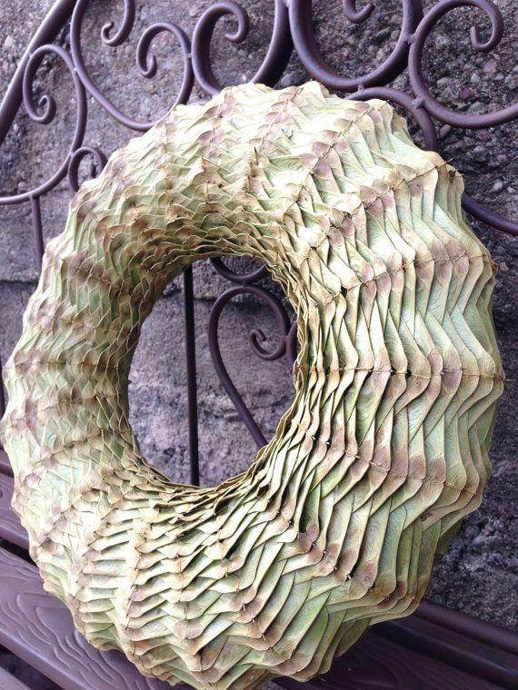 Autumn Wreath-Holiday Kranz - Ahorn Samen Kranz - Thanksgiving Wreath - Herbst-Kranz