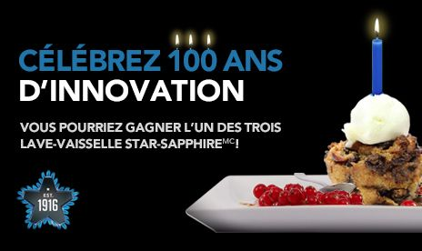 Je viens de m'inscrire au concours « Célébrez 100 ans d'innovation »