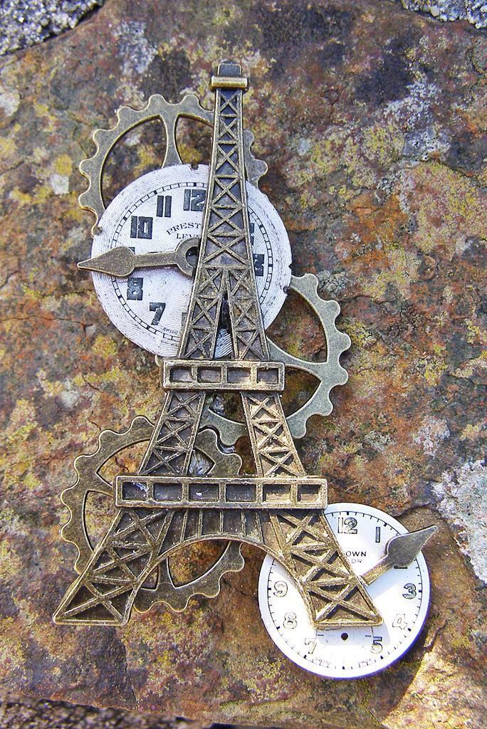 Tower Power Steampunk Brooch Lapel Pin Badge Handmade Arts and Craft by ArtandThingsUK on Etsy