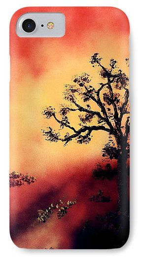 Way To The Light IPhone 7 Case Printed with Fine Art spray painting image Way To The Light by Nandor Molnar (When you visit the Shop, change the orientation, background color and image size as you wish)