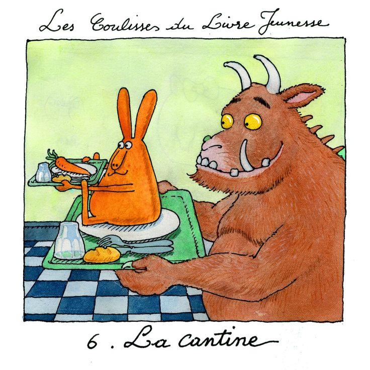 """""""les coulisses du livre jeunesse"""" par gilles bachelet, 6. la cantine"""