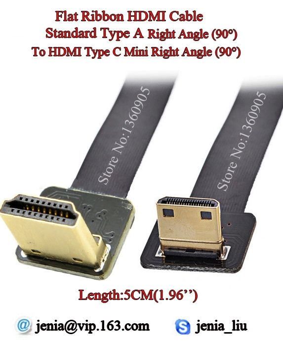 16.85$  Watch now - http://alitsj.shopchina.info/go.php?t=32686821664 - 5CM Short Soft FPV HDMI Cable Mini Type C Male to Male Standard Right Angle 90 degree for 5D3 5D2 GH3 GH2 5N 5T 5R 7N DJI 16.85$ #aliexpress