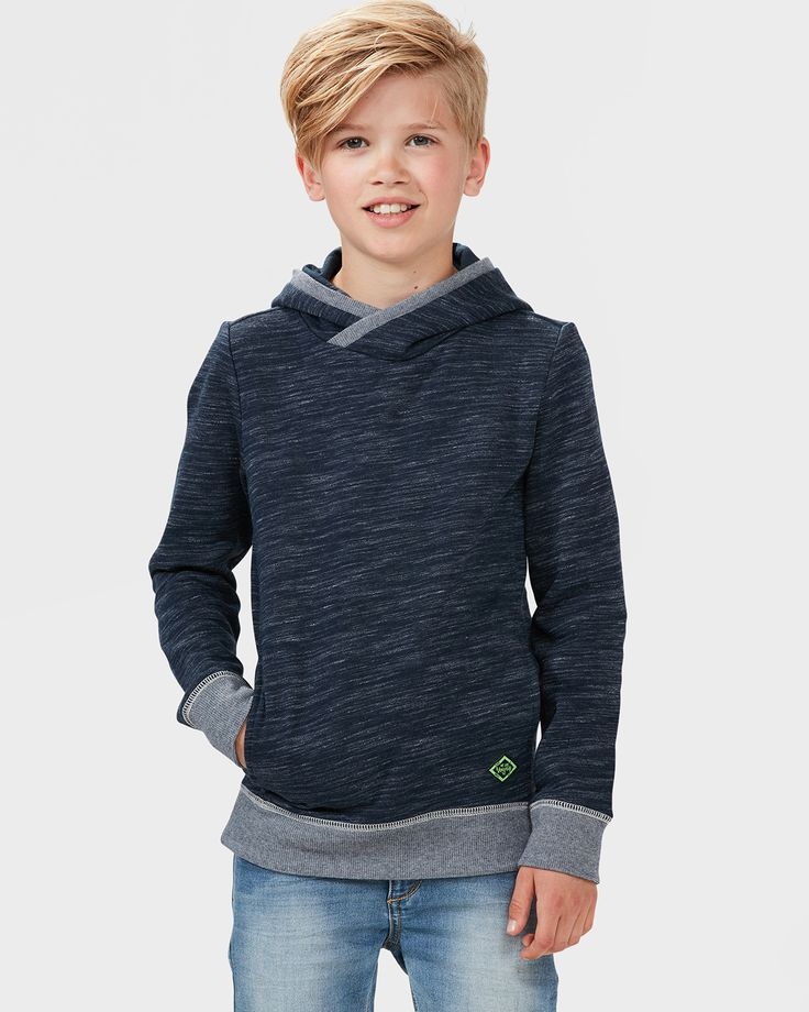 JONGENS HOODED SWEATER Donkerblauw