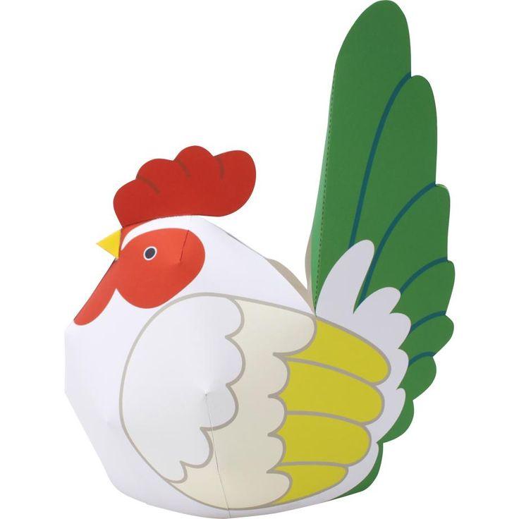 Chicken (Japanese Bantam),Animals,Paper Craft,Animals,easy,easy,Chinese zodiac,Paper Craft,chicken,chicken,bird