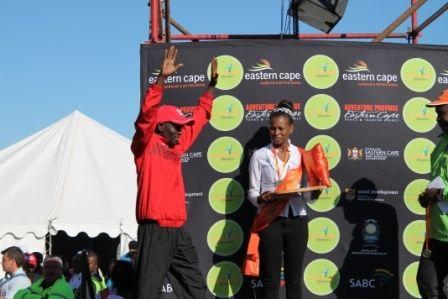 Collen #Makaza winner of inaugural #LegendsMarathon 68km #Ultramarathon 2013 #Prizegiving