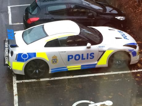 The New police car in Gothenburg, Sweden