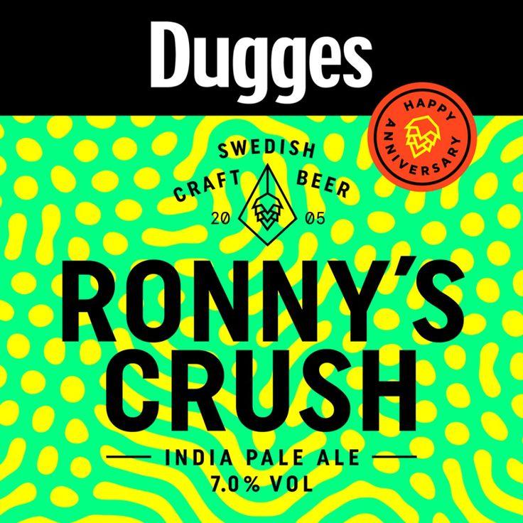 Dugges - Ronny's Crush  http://www.beer-pedia.com/index.php/news/19-global/4932-dugges-ronny-s-crush  #beerpedia #dugges #ipa #brewersbeerbar #beerblog #beernews #newrelease #newlabel #craftbeer #μπύρα #beer #bier #biere #birra #cerveza #pivo #alus