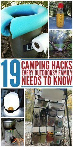19 campinghackar som varje utomhusfamilj behöver veta – #CampingHacks #die #je …