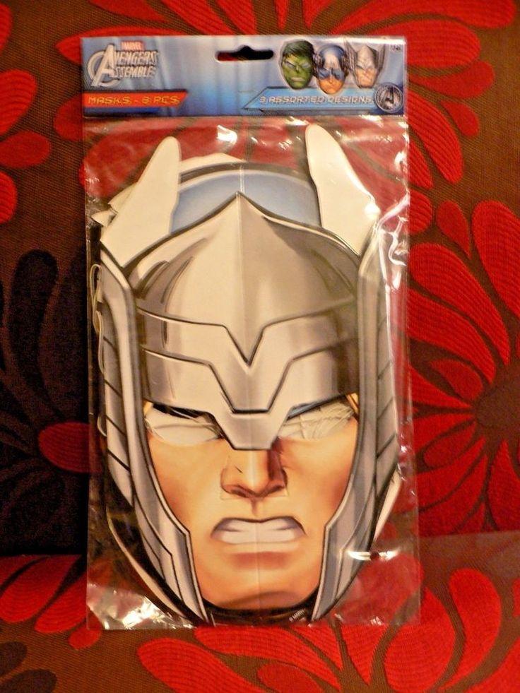 Marvel Avengers Assemble Birthday Party Masks Hats Supplies USA Seller 8 Count #DesignWare #BirthdayChild