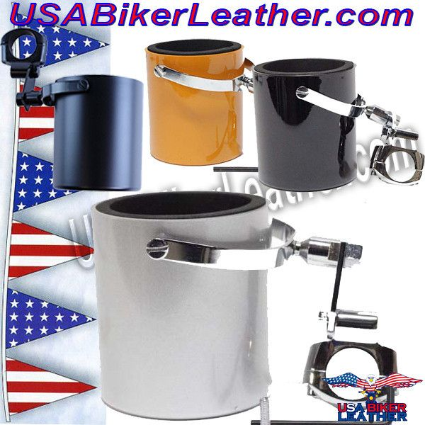 Motorcycle Cup Holders / Choice of Colors / SKU USA-CUP4-DL