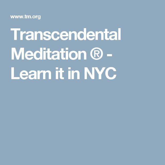 Transcendental Meditation ® - Learn it in NYC