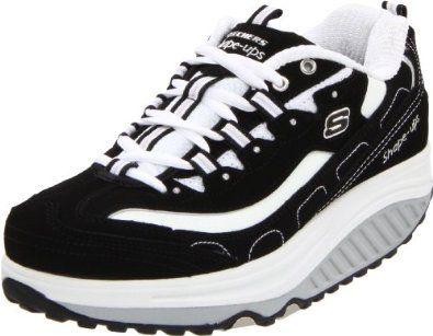 Skechers Women's Shape Ups - Strength Wide Fitness Work Out Sneaker,Black/White,8 W US Skechers. $79.99