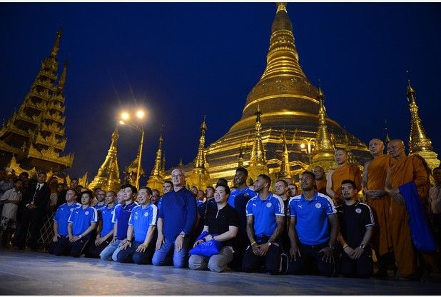 9 pictures of Leicester City in Myanmar