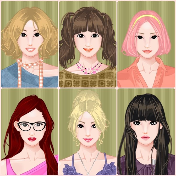 NARUTO girls : Semi-realistic avatars made with http://www.rinmarugames.com/game/?game_id=322  Upper row (left to right) : Temari, Tenten, Sakura. Bottom row (left to right) : Karin, Ino, Hinata.  Not exactly look like the real ones, but I'm happy with what I did. They would make a great girl group (:p) and I wish there's a male version so my dream would be complete.  Which one do you think is the prettiest? ^^