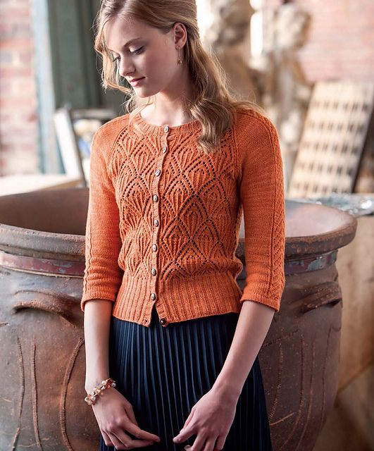 Seamless lace cardigan by Simona Merchant-Dest