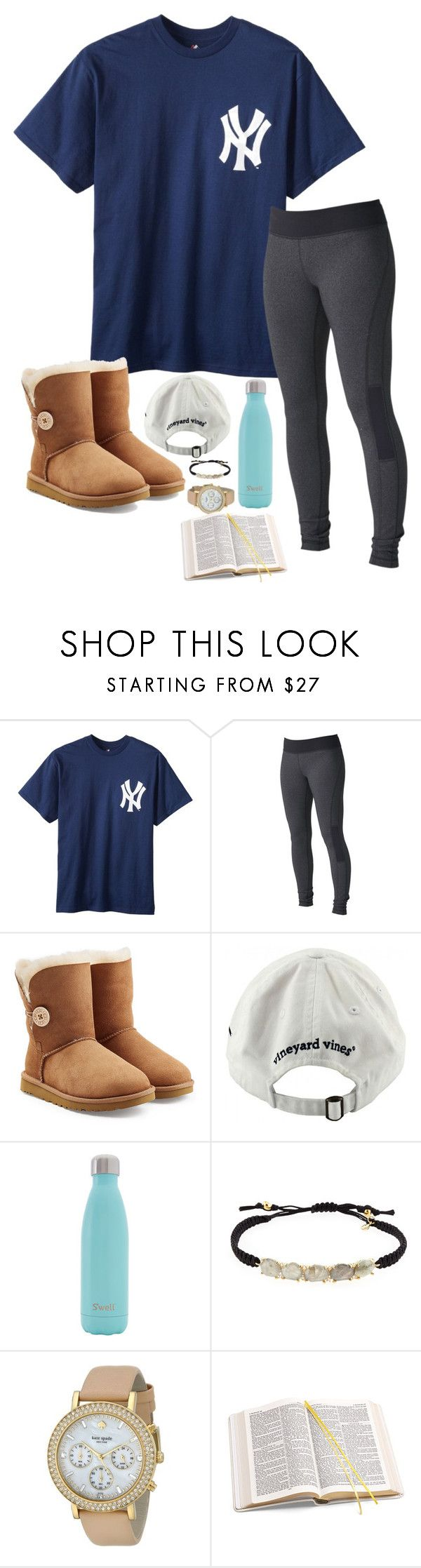Watching Castle! by maggieholland00 ❤ liked on Polyvore featuring Roxy, UGG, Vineyard Vines, Swell, Tai, Kate Spade and Aspinal of London