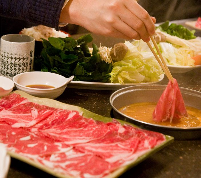 Shabu House San Francisco Usa Best Anese Beef Fondue I Ve Had In Try The Ginger En Broth Base And Tempura Soft