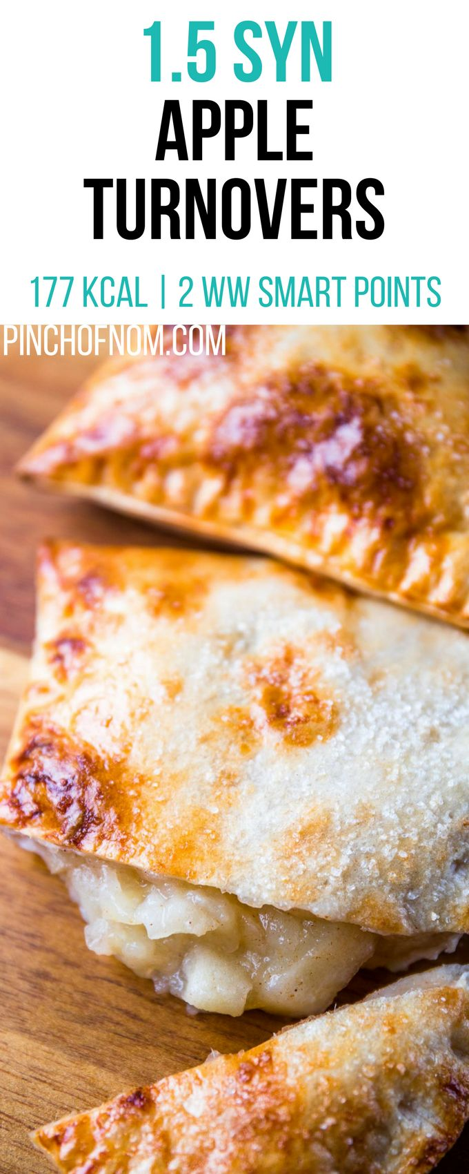 1.5 Syn Apple Turnovers | Pinch Of Nom Slimming World Recipes    177 kcal | 1.5 Syns | 2 Weight Watchers Smart Points