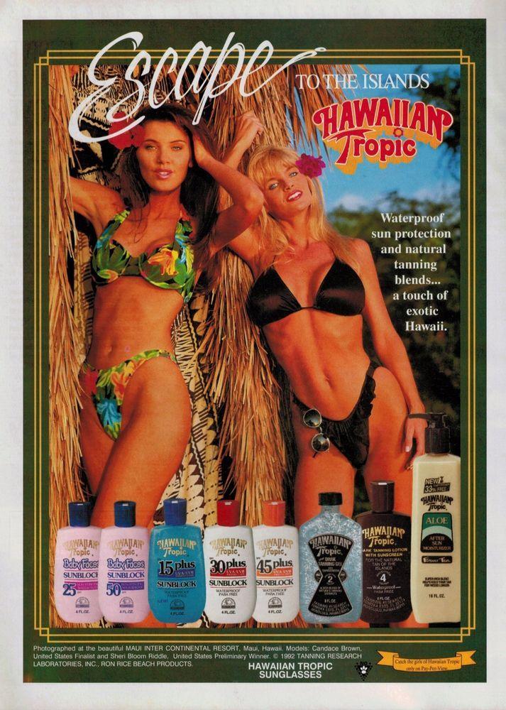 1993 Hawaiian Tropic Swimsuit : Candace Brown, Sheri Bloom ...