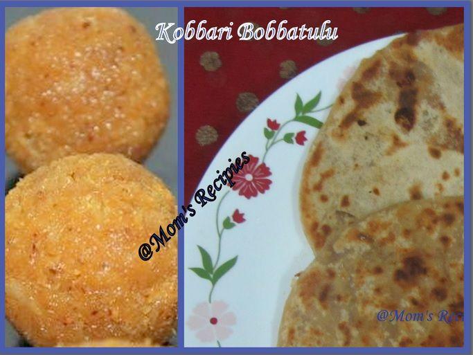Kobbari Bobbatulu /Coconut Pancakes