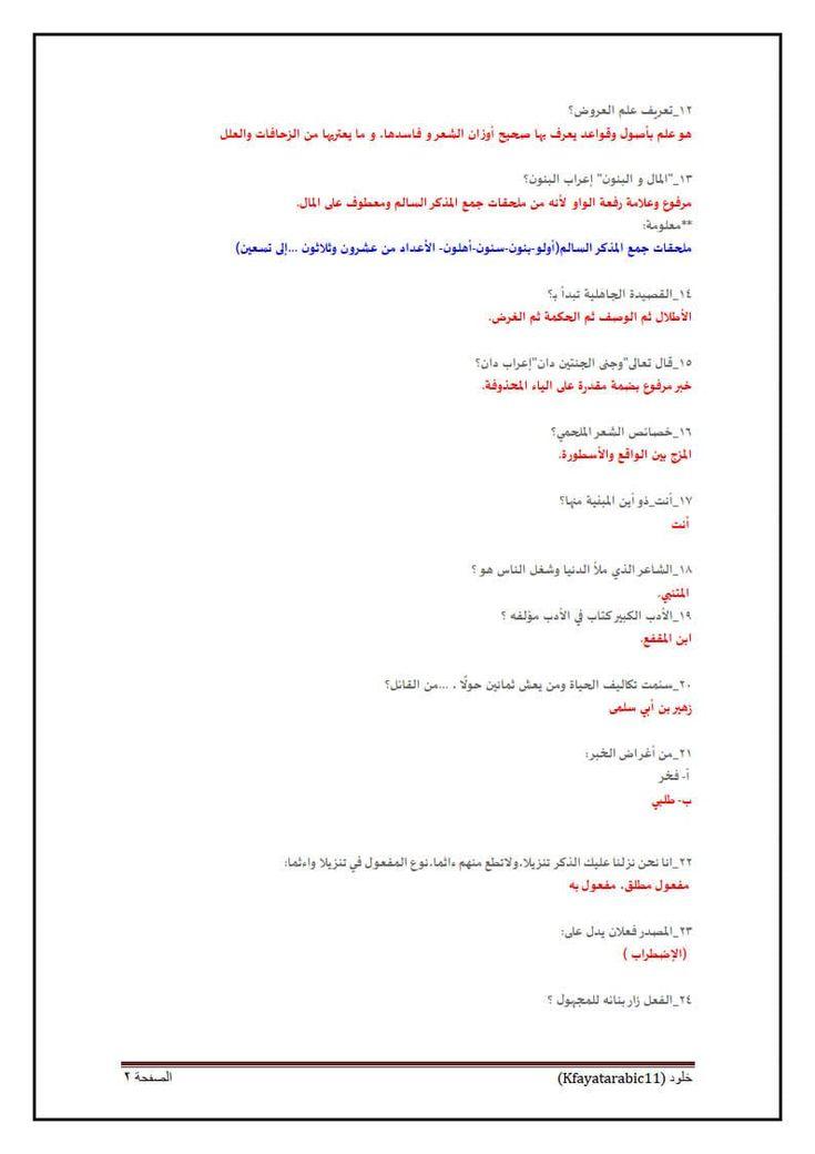 كتاب سؤال وجواب لجميع علوم اللغة العربية الخاص بامتحان رخصة المعلم