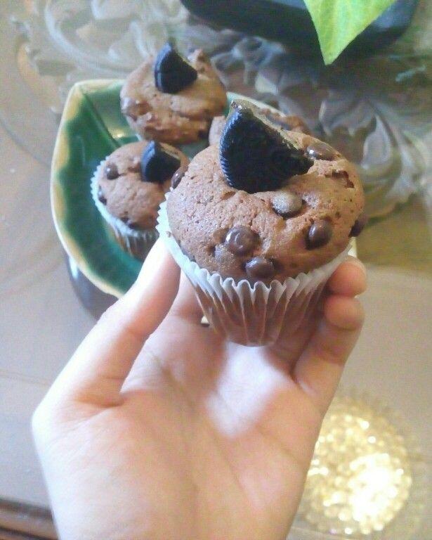 Oreo chocolate cup cakes #homemade