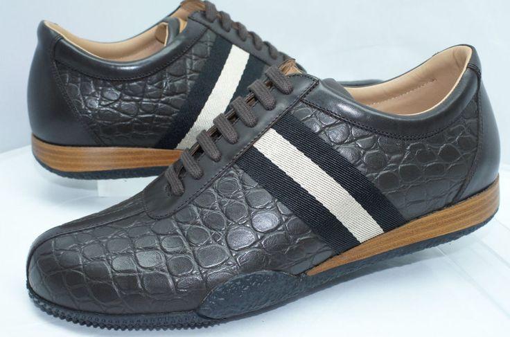 Bally Men's Shoes Frenz Size 10 NEW Brown Sneakers Tennis Leather NIB  #Bally #FashionSneakers