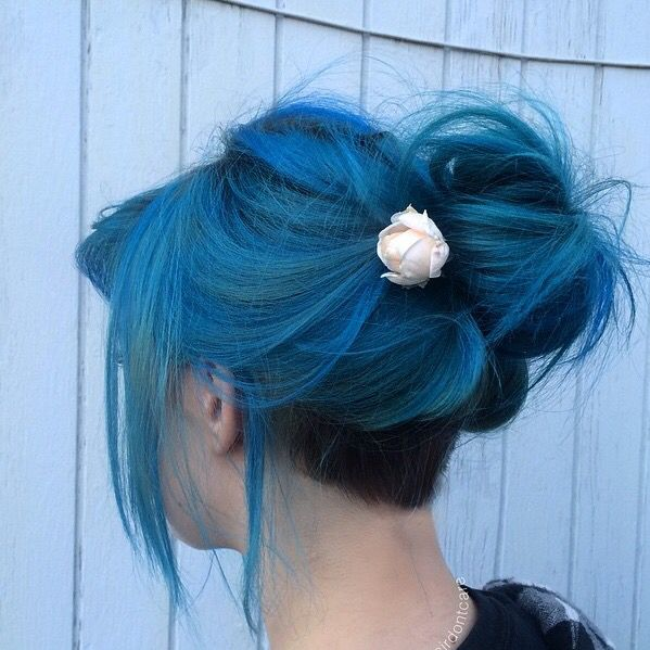 Kuvahaun tulos haulle tumblr blue hair