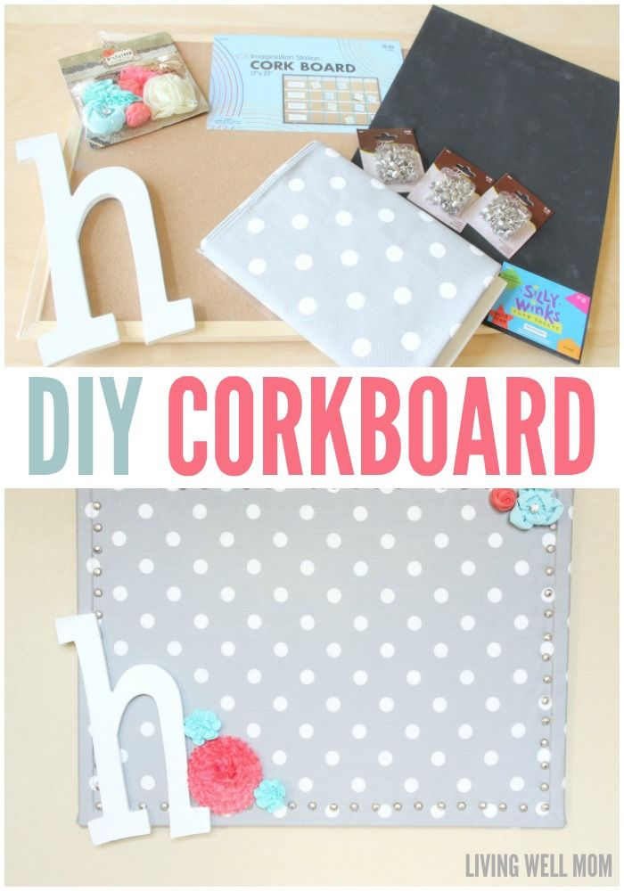 This simple DIY Cork Board is easy to make, inexpensive, and pretty too! Get…