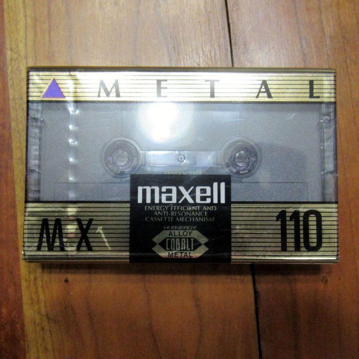 Maxell MX 110 Metal Bias Type IV Audio Cassette New Sealed Hi Energy Alloy…