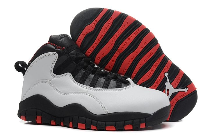 Great New Nike Air Jordan 10 for Kids Shoes White Red Wholesale at Online Shop