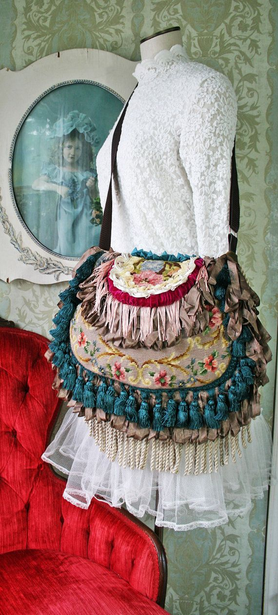 Large Bohemian Gypsy Bag / Handbag / by TurtleDoveBagsEtc on Etsy