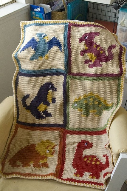 Dino Blanket by Quirky Laurel, via Flickr