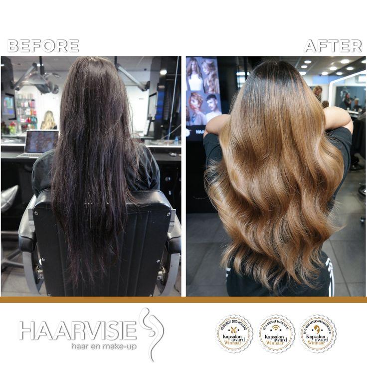 Beige balayage hair with olaplex en wella  made by Jarlin